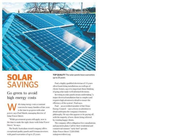 Solar Savings – Home Magazine Editorial