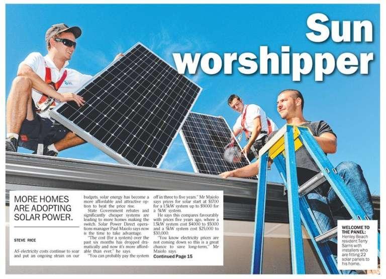 Sun Worshipper – The Advertiser Editorial