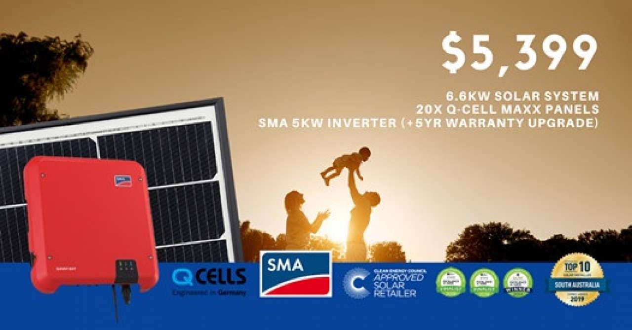 6.6kW Solar System for only $5,399