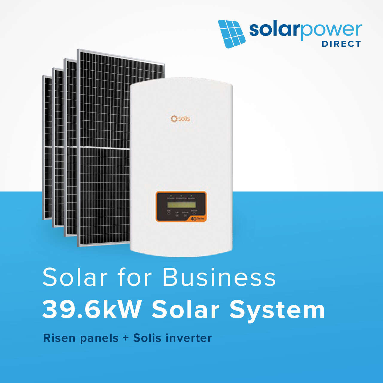 Solar for business - 39.6kW system for $15,990
