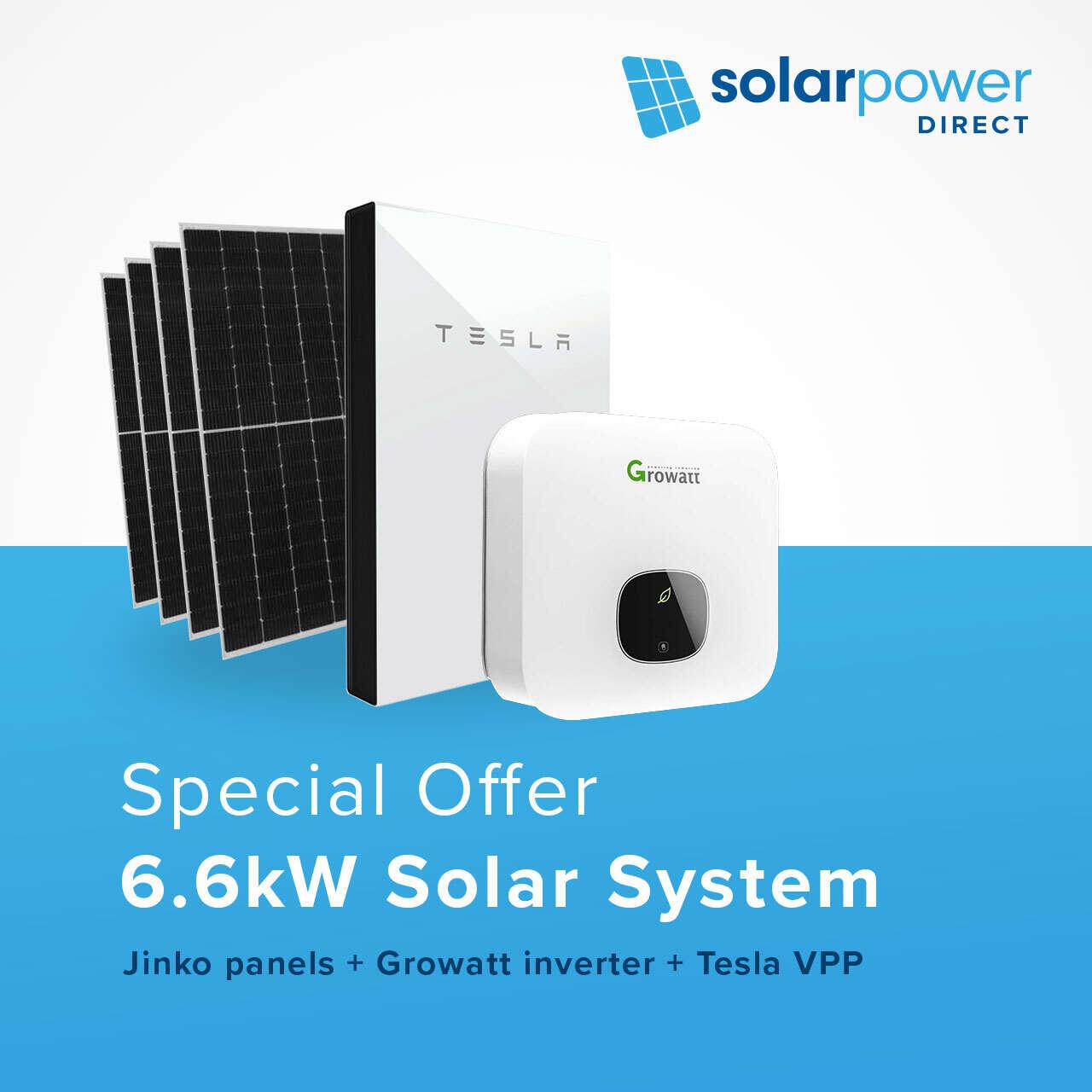 8.8kW Solar System + Tesla VPP for $15,599