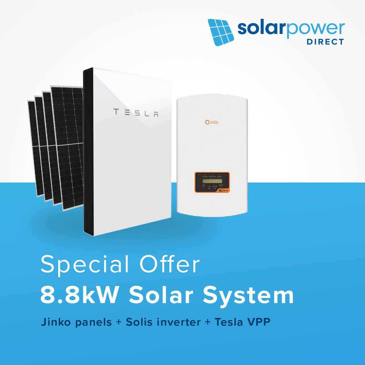 8.8kW Solar System + Tesla VPP for $58 per week