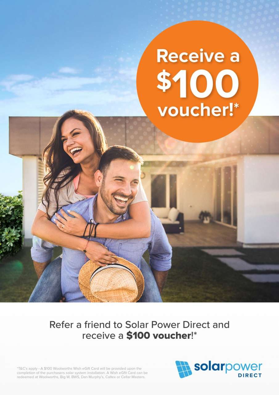 Refer a friend for $100 voucher